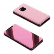 iDENMEX Funda Case para Huawei Mate 20 Pro Tipo Cartera Flip Espejo iDENMEX Rosa