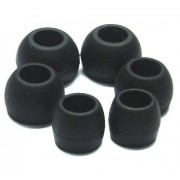 S/M/L Black Replacement Silicone Ear Buds Gels Cushions Tips for 11MM Skullcandy TiTAN In-Ear Earphones Headphones