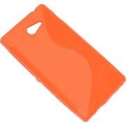 Maxy Ssyl Custodia Tpu Silicone Cover Case Per Sony Xperia M2 Orange