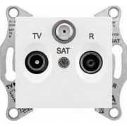 SEDNA TV-R-SAT aljzat átmenő 8 db IP20 Fehér SDN3501221 - Schneider Electric