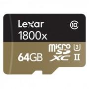 kit lexar professional microsdxc 1800x 64GB - LSDMI64GCRBEU1800R