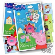 Peppa Pig On the Go Coloring Pouch Activity Set With Stickers Coloring Pages and Coloring Wheel - Also Included Is 1 Large Coloring Fun Sticker