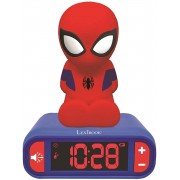 Ceas desteptator pentru copii Lexibook RL800SP-00 Spiderman cu alarma, lumina de noapte si sunete tematice Spiderman