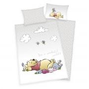 Lenjerie de pat Herding Winnie the Pooh, din bumbac, pentru copii, 100 x 135 cm, 40 x 60 cm