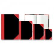 STYLEX Schreibwaren GmbH STYLEX® Kladde, schwarz/rot, kariert, Notizbuch aus holzfreiem Papier, 200 Blatt, A5