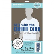 SEI 5-1/2-Inch by 9-1/4-Inch Gut with Credit Card Iron on Transfer 1 Sheet