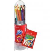 Set cadou Racheta 8 creioane Grip si Ascutitoare Faber-Castell