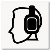 Placa uso do protetor de ouvido de EPI 20x20 cm em ps 2mm