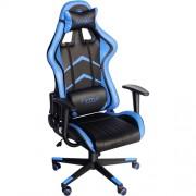 Scaun gaming Marvo CH-106 BLUE Negru/Albastru, Piele, Metal