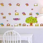 TipTop Wall Stickers Cartoon Tree & Mushroom Design