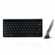 KM-909 2.4 GHz Smart Sylus pen draadloze optische muis + draadloos toetsenbord set (zwart)
