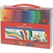 Carioca 60 Culori Connector Cut Cadou Faber-Castell