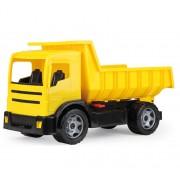 Camion basculanta pentru copii din plastic Lena, sustine 100 kg, galbena