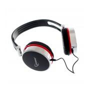 Casti stereo Gembird MHS-903 cu microfon, negru cu accente cromate si rosii