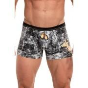 Cornette Tattoo Acorns 280/176 Pánské boxerky S černá