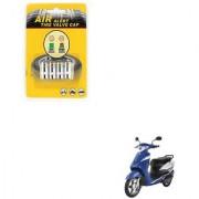 Auto Addict Scooty Tire Pressure Air Alert Iron Tyre Valve Caps Set of 4 Pcs For Indus Yo Xplor