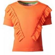 Kidz-art! Meisjes Shirt Korte Mouw - Maat 92 - Oranje - Polyester/elasthan