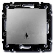 Кнопка с символом лампы Legrand Valena алюминий