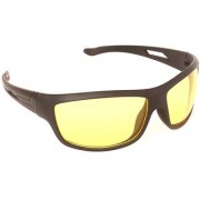 Night Drive Night Vision Glasses Makes NIght Driving Easy (Yellow)