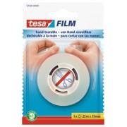 Ragasztószalag, kézzel téphető, 19 mm x 25 m, TESA Tesafilm, átlátszó (TE57520)