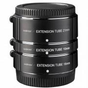 Walimex Pro Extension Tube Set de Anéis Extensores 10/16/21mm para Fuji X
