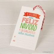 Tarjetón Feliz navidad Pack 25 unid.