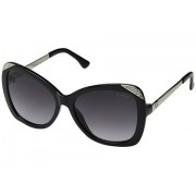 GUESS GF6055 Shiny Black with SilverSmoke Gradient Lens