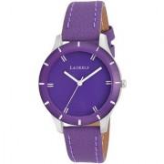 Laurels Purple Color Analog Women's Watch With Strap: LWW-COLORS-141407