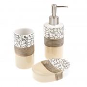 Set accesorii baie Designer Collection, 3 piese, design mozaic