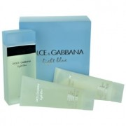 Dolce & Gabbana Light Blue lote de regalo XII. eau de toilette 100 ml + gel de ducha 100 ml + crema corporal 100 ml