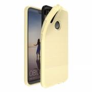 Husa de protectie Huawei P20 Lite Dux Ducis rezistenta la socuri cu placuta metalica, auriu