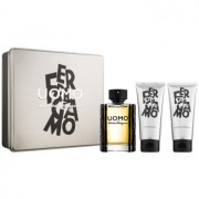 Salvatore Ferragamo Uomo coffret I. Eau de Toilette 100 ml + gel de duche 100 ml + bálsamo after shave 100 ml