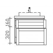 Pelipal Waschtischunterschrank 9030-WTUSL02, B:580, H:522, T:460mm 9030-WTUSL02