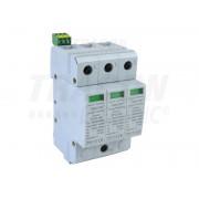 Descarcator de supratensiuni,AC,cl.2,elem.modular inlocuibil TTV2-40-3P 230/400 V, 50 Hz, 20/40 kA (8/20 us), 3P