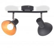 Sonata Спот лампа за 2 крушки, E27, черно и златисто