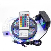 Diwali and Christmas Lighting RGB Remote Control LED Strip Light Colour Changing (Multicolour)