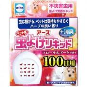 EARTH BIOCHEMICAL Средство для отпугивания насекомых от кошек и собак, с эфирными маслами, с ароматом цветочного букета, на 100 дней, 10 мл.