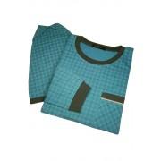 Boris pánská noční košile s čepicí AL.5441.0 5XL petrolejová