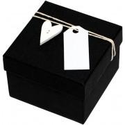Giftisimo Luxusní dárková krabička s dřevěným srdíčkem GF0008