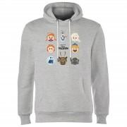 Frozen Emoji Heads Hoodie - Grijs - XXL - Grijs