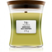Woodwick Trilogy Garden Oasis lumânare parfumată cu fitil din lemn 275 g