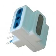 Spina elettrica adattatore tripla 10A + luce