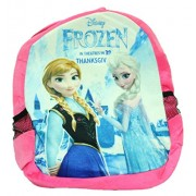Kabir kirtika Toys' Disney Frozen Pink Soft Toy School Bag for Kids, Travelling Bag, Carry Bag, Picnic Bag, Teddy Bag for Birthday Gift for boy Or Girl (Pink).