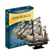 Puzzle 3D CubicFun HMS Beagle, 168 piese