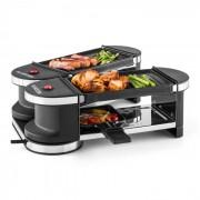 Klarstein Tenderloin, mini raclette grillsütő, 600 W, 360°-os alaprész, 2 grillezőlap (GQR1-TenderloinMini)