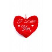 Perna decorativa din plus in forma de inima 27x32 cm dae2700