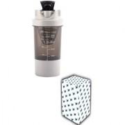 CP Bigbasket Cyclone Gym Shaker Water Bottle 500 ml 1-Piece Grey.