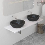 vidaXL Meuble de salle de bain Blanc 160x40x16,3 cm