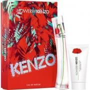 Kenzo Perfumes femeninos FLOWER BY Gift Set Eau de Parfum Natural Spray 30 ml + Body Milk 50 ml 1 Stk.