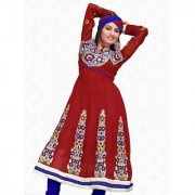 Aaina Maroon Chiffon Embroidered Dress Material (SB-1157) (Unstitched)